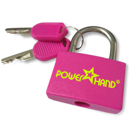 Powerhand pink padlock