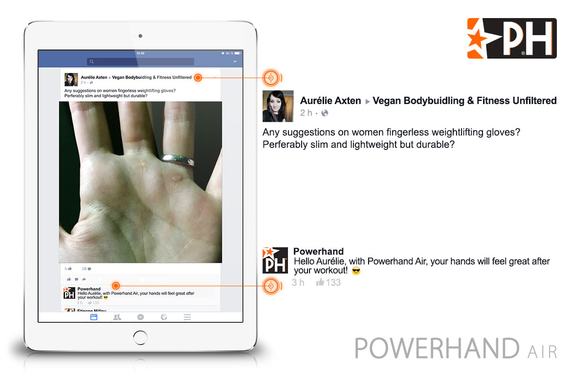 facebook post powerhand