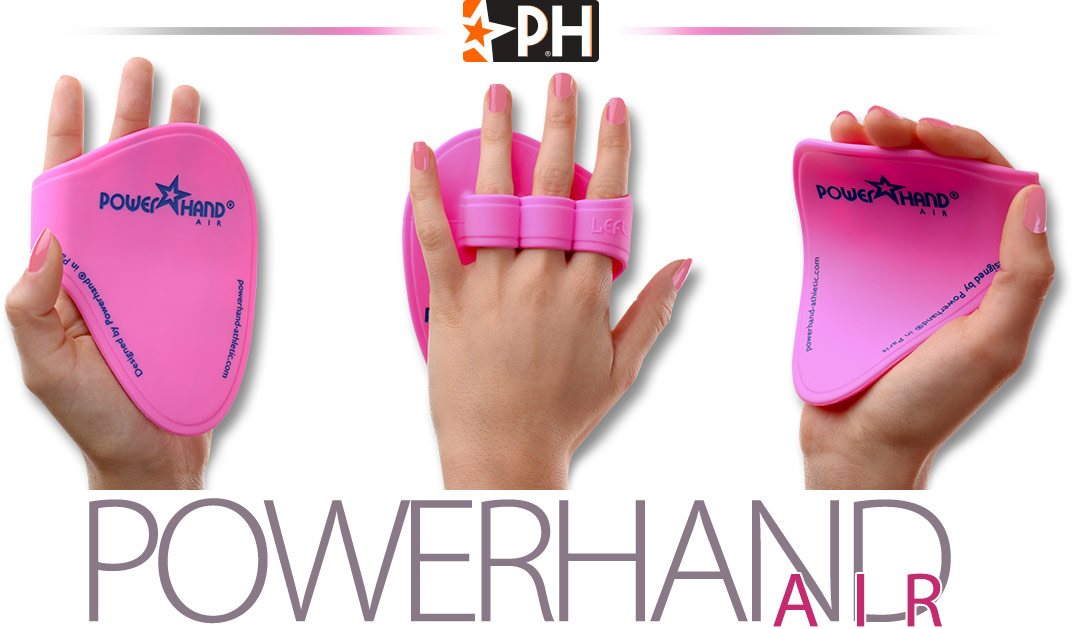different views of the powerhand air for women with hands