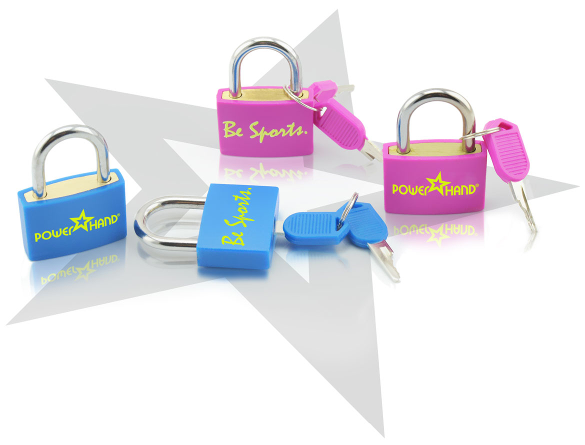 blue and pink padlocks of powerhand