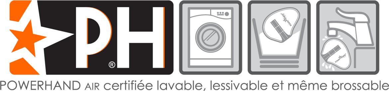 powerhand est lavable, brossable et lessivable